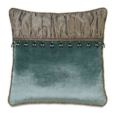 Eastern Accents Monet Dunaway Ruched Throw Pillow