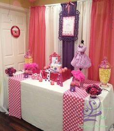 Dessert table at a Cupcake Birthday Party!  See more party planning ideas at CatchMyParty.com!