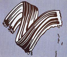 White Brushstroke (1965) - Roy Lichenstein