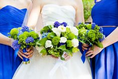A Blue and Green Literature Themed Wedding