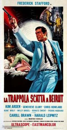 Agent 505 Todesfalle Beirut (Italian Poster) (1965) a film by Manfred R. Köhler