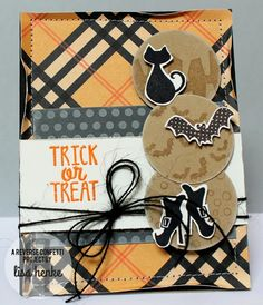 Oct. SFYTT5 {trick or treat} here is a sample for the October SFYTT challenge.  Reverse Confetti Stamps-spooky sentiments and spooky cuties  www.reverseconfetti.com