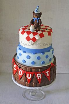 Teddy Bear Picnic Cake plus How to Make Fondant Basket tutorial
