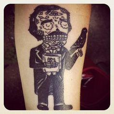 Poe Tattoo by Karen Slafter of Spellbound Studio, Austin, TX