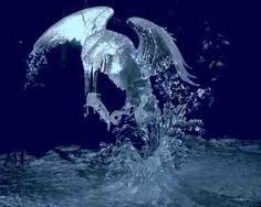 Ice sculpture. Surfacing Kingfisher by Junichi Nakamura (Japan) and Suguru Kanbayashi (Canada)