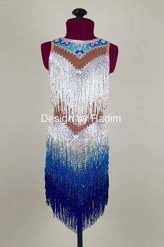 A collection of beaded costume dresses perfect for parties and latin dance competitions.