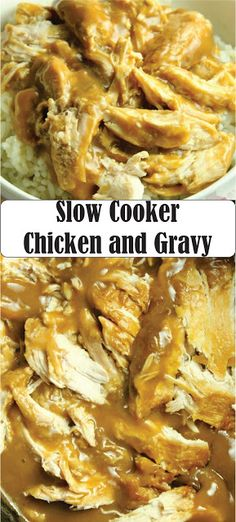 Slow Cooker Chicken and Gravy is what comfort food is all about in our house and it is totally ahhh-mazing! Easy and delicious always wins in our home. Slow Cooker Huhn, Crock Pot Slow Cooker, Slow Cooker Recipes, Healthy Recipes, Gourmet Recipes, Cooking Recipes, Easy Recipes, Recipes Dinner, Dinner Ideas