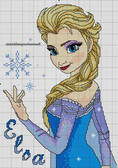 ELSA FROZEN SCHEMA PUNTO CROCE by syra1974 on DeviantArt