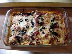 The Potluck Vegetarian: Ten Layer Mushroom Lasagna  Lasagna is a fun dish to get creative with if you have any head at all for substitutions. You could, for instance, substitute fresh spinach for fresh mushrooms. You can take out the cottage cheese if you want and just use the mushroom soup sauce or do it the other way round. You probably shouldn't substitute chocolate chips for the vegeburger, though. That would be silly.