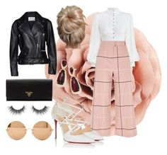 """Rosa💐"" by fanila69140 ❤ liked on Polyvore featuring Zimmermann, River Island, Christian Louboutin, Kendra Scott, Victoria Beckham, Prada and Acne Studios"
