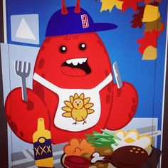 Work in progress: Happy Thanksgiving from Boston (where even the lobsters eat turkey)