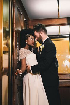 A beautiful styled shoot, full of vintage Art Deco Glamour inspired by the Photography by Prince Photography Interracial Couples, Arte Interracial, Interracial Wedding, Mixed Couples, Couples In Love, Prince Photography, Wedding Photography, Couple Biracial, Wedding Couples