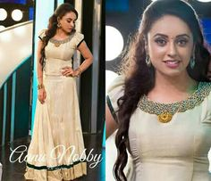 Ethnic wear   pearly maaney   bead work   colour combo