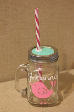 Deal of the Week // Personalized Mason Jar Tumbler by HouseOfJars, $13.50