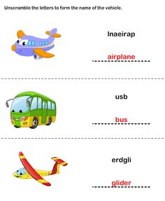 Free Printable Worksheets on Transports | Educational Worksheets for Preschool