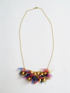 Anthro Knockoff Ribbon Necklace | AllFreeJewelryMaking.com