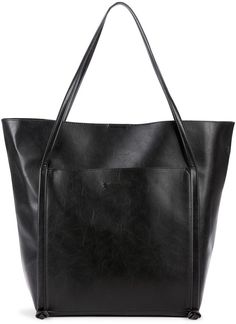 Sole Society Harley Front Pocket Vegan Leather Tote