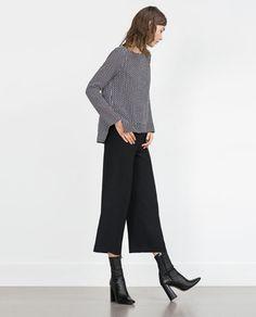 Image 1 of GEOMETRIC PRINT TOP from Zara