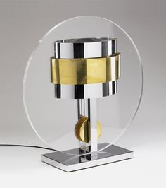 Table lamp by Curtis Jere, 1971.