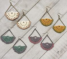 Lace Chandalier Dangle Earrings Choose from 4 Colors