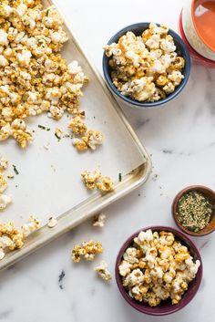 Recipe: Furikake Popcorn — Snack Recipes from The Kitchn Popcorn Snacks, Flavored Popcorn, Popcorn Recipes, Snack Recipes, Popcorn Bowl, Homemade Kettle Corn, Road Trip Food, Caramel Corn, Grain Foods