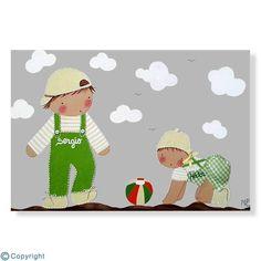 Cuadro infantil personalizado: Dos hermanitos (ref. 12222-01)