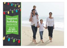 Bright Merry Christmas Lights Photo Card from Prints Charming