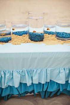 Hostess with the Mostess® - Ombre Mermaid Party- fish to bring home instead of a goody bag Little Mermaid Birthday, Little Mermaid Parties, Fish Centerpiece, 2nd Birthday Parties, Birthday Ideas, Birthday Fun, Under The Sea Party, Party Themes, Party Ideas