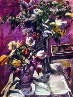 Lovis Corinth  - Lilac and tulips