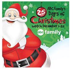 ABC Family's 25 Days of Christmas Starts Tonight!!! theDealyo.com #christmas #holidays #santa