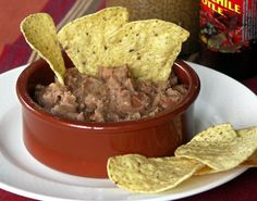 Refried Beans in German! Slow Cooking, Crockpot Refried Beans, Baked Beans, Tex Mex, Finger Foods, Bacon, Mexican, Snacks, Breakfast