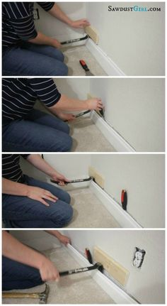 Removing Baseboard Without Damage Sawdust Girl Removing Baseboards Baseboards Diy Home Improvement
