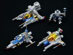 LEGO various ships and a mech