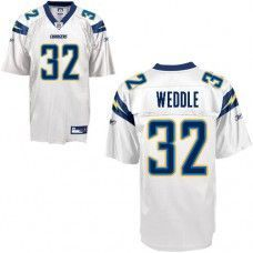 Chargers #32 Eric Weddle White Stitched NFL Jersey