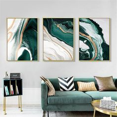 Living Room Paint, Living Room Bedroom, Living Room Decor, Dining Room, Green Canvas Art, Window Cling Vinyl, Bedroom Posters, Living Room Pictures, Home And Deco