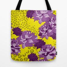 Floral Leopard Tote Bag by patterndesign - $22.00