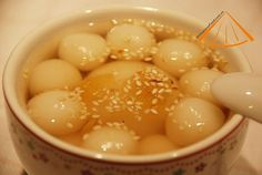 Traditional Vietnamese Rice Balls Sweet Soup Food (che troi nuoc)