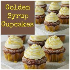 What time is it you may ask! It's time for some yummy Golden syrup cupcakes. Hands up who fancies a cupcake? How To Make Lyle's Golden Syrup Cupcakes: Makes 12 Prep time 25 minutes… Cupcake Recipes, Cupcake Cakes, Dessert Recipes, Desserts, Cup Cakes, Mini Cakes, Cupcake Icing, Cookie Recipes, Golden Syrup Cake