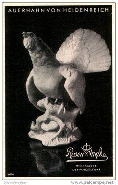 Original-Werbung/ Anzeige 1940 - AUERHAHN VON HEIDENREICH / ROSENTHAL PORZELLAN - ca. 70 x 110 mm