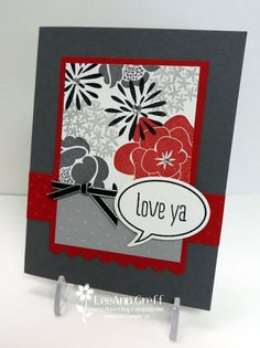 "I thought it was time to create another version of my 5 Sheet Wonder. I chose to use the Simple Stems stamp set. Look! Isn't this color combination of Real Red, Basic Gray, Black, White and Smoky Slate gorgeous?!! I love making one sheet wonder cards, especially with my extra 4 templates. Some of you might ask ""What is a 5 sheet wonder?"" Well it's actually 5 templates I've created enabling you to create 10 beautiful cards without measuring or..."