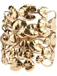 AURELIE BIDERMANN - water lily leaves bracelet