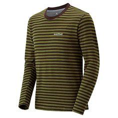 Merino Wool Plus Striped Long Sleeve T Men's