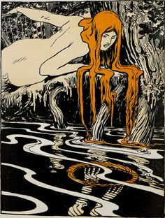 Des Meisters Muse (The Master's Muse) by Arpad Schmidhammer, for Jugend magazine, 1897 Art And Illustration, Magazine Illustration, Illustrations, Art Inspo, Kunst Inspo, Fantasy Kunst, Fantasy Art, Jugendstil Design, Kunst Poster