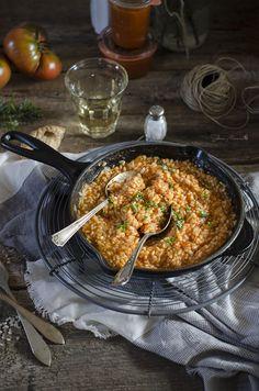 Sabores y Momentos | Risotto de tomate y albahaca fresca | http://saboresymomentos.es