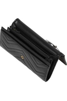 Gucci - Gg Marmont Quilted Leather Wallet - Black - one size