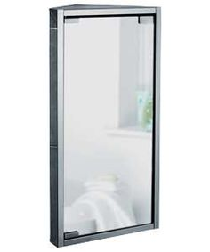 Mirrored Bathroom Corner Cabinet Stainless Steel