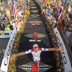 GoPro Featured Photographer - @donaldmiralle  About the Shot: @JanFrodeno of Germany crosses the finish line with a time of 8:14:40 becoming the new Ironman World Champion during the 2015 Ironman World Championships in Kailua-Kona, Hawaii on October 10, 2015. #GoPro