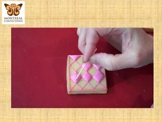 Cookie decorating - quilting with royal icing