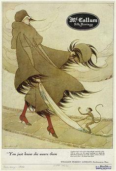 Marjory C. Woodbury, McCallum Silk Hosiery, 1922 by Gatochy, via Flickr