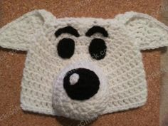 A crochet character hat rendition of Snowy the dog from the Adventure of Tintin series based on his comic book appearances. An advanced beginner friendly free crochet pattern. Double Crochet Beanie Pattern, Crochet Cap, All Free Crochet, Crochet Baby Hats, Crochet For Kids, Crochet Patterns, Crochet Children, Hat Patterns, Crochet Ideas